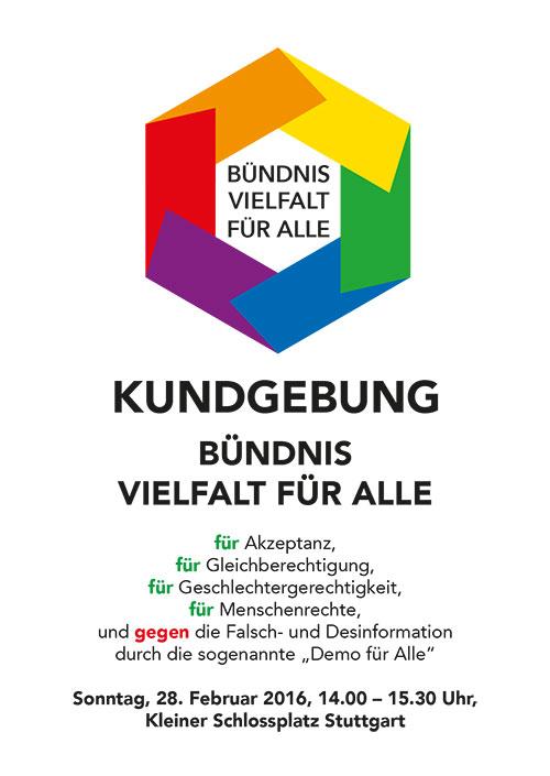 Kundgebung für Vielfalt Stuttgart